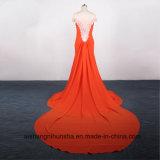 Reizvolle Nixe-Backless langes Spitze-Hochzeits-Kleid für Frauen