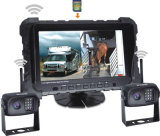"""2,4Ghz Carro Sem Fio Digital Kit de câmera para visão traseira com DVR Split Display LED de 7"""""""
