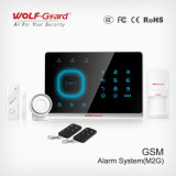 Sistema de alarma casera elegante para la seguridad casera, sistema de alarma de ladrón con GSM+SMS