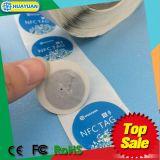 Kundenspezifischer thermischer passiver ISO18092 NTAG213 Kleber NFC des Übergangsdruckens 13.56MHz beschriftet Aufkleber