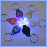 LED Mini Chaveiro 365nm técnica 395nm preto UV invisível luz roxa Logotipo Torch Key Ring Piscar Luzes
