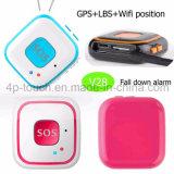 Botón sos Personal GPS Tracker con Alarma de caída V28