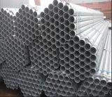 Tubo de acero redondo de ERW/tubo hueco del acero del galón de la INMERSIÓN caliente de la sección