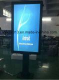 55inch luz del sol IP65 legible LCD que hace publicidad de la visualización para el estacionamiento