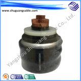 Изоляция Hv/XLPE/гофрировала оболочку Al/PVC/продольно кабель упорных воды/электричества