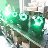 o diodo emissor de luz principal movente DJ do feixe do olho da abelha 6X15W ilumina-se