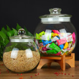 Vintage белый красивые стеклянные ремесла емкостей для хранения продуктов