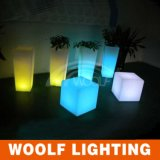 LED Furniture RGB Plastic LED Cube Seat