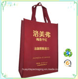 Saco de Tote não tecido não tecido feito sob encomenda do saco da embalagem do vinho da impressão do logotipo