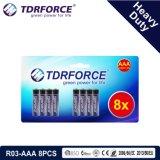 연기 Detetor (R6-AA 12PCS)를 위한 1.5V 중국 제조 건전지