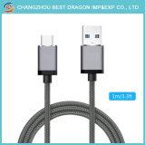 Os dados de carga rápida trançado nylon magneto 3.1 Micro USB Cabo do tipo C