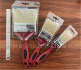 Manico di legno di spazzola puro 5pk del chip della vernice della setola di 100% Cina