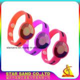 Braccialetto sensibile UV del silicone variabile colore all'ingrosso per le attività esterne