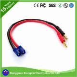 Cabo UL Personalizar de fábrica do Adaptador de carga do cabo de silicone flexível plug banana para EC2 EC3 Ce5 Xt30 Xt60 Tamiya Hxt Jst Walkera