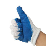 Синий гладкой латексные перчатки защиты пальцев
