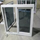 Doppeltes glasig-glänzendes Fenster des Scheiben-Außenöffnungs-weißes Profil-UPVC