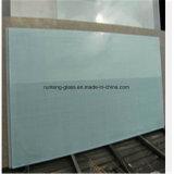 O ácido de vidro desobstruído decorativo gravou a tabela de jantar de vidro