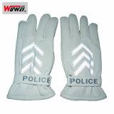 Высококачественная кожа дорожной полиции светоотражающие перчатки FGST-WW05
