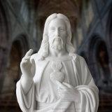 Heiliges Inneres der Jesus-Statue, fromme Marmorierungskulptur T-6500