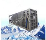 macchina del ghiaccio in pani del creatore di ghiaccio di ora 5-Ton/24 con il contenitore con la torre di raffreddamento