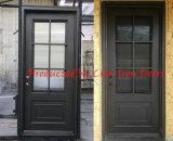 緩和されたガラスが付いている現代細工したエントリ鉄のドア