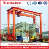 Port maritime de conteneurs de levage d'utilisation ou utilisation en atelier double poutre 40 tonnes de grue à portique