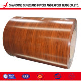 Bobina d'acciaio ricoperta colore di legno del reticolo del grano del Manufactory