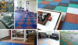 carrelage en caoutchouc d'intérieur de 1m*1m/couvre-tapis en caoutchouc de gymnastique/plancher en caoutchouc de cour de jeu