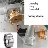 Máquina elegante de la marca del laser de la fibra para el grabado de Brcelet del anillo de la joyería con el dispositivo rotatorio