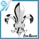 Эмблема автомобиля серебра металла крома лонгхорна 3D животная