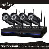 IP &#160 4CH 1.0MP беспроволочный; Камера слежения CCTV набора пули NVR для дома