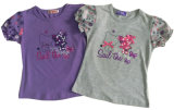 Kids Wear Clothing Sgt-087에 있는 꽃 Cute Girl Children T-Shirt