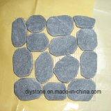 Плитка камня Cobble Китая высокого качества черная