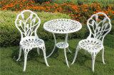 Morrer a mobília ao ar livre Rosa do pátio do alumínio de molde jogos dos restaurantes de 3 partes