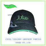 黒く重いブラシの綿3Dの刺繍および印刷の帽子