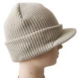ロゴNTD062で編まれるの編まれた帽子