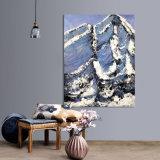 Großes Segeltuch-Wand-Kunst-Schnee-LandschaftsÖlgemälde 100% handgemacht