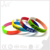 Wristband силикона градиента цвета, резиновый браслет