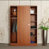 ワードローブを滑らせる木の家具の簡単な寝室