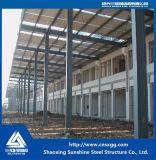 Blocco per grafici chiaro prefabbricato del gruppo di lavoro della struttura d'acciaio con materiale da costruzione