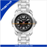 ステンレス鋼バンドが付いているカスタマイズされたスイス・クウォーツ腕時計