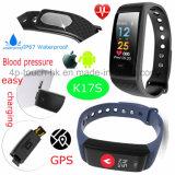 심박수 모니터 K17s를 가진 적당 추적자 Bluetooth 팔찌 또는 소맷동 지능적인 팔찌