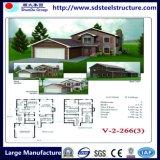 Design de luxo em aço Luz Prefab House Villa Factory