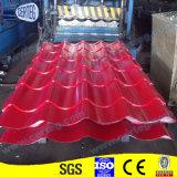 Telhas de aço galvanizadas Prepainted vermelhas