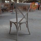 Cadeira Stackable por atacado do banquete de casamento da parte traseira da cruz da madeira de faia
