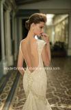 Merletto profondo dell'abito nuziale del V-Neckline che borda il vestito da cerimonia nuziale della sirena di Berta B16144