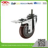 125mm Schwenker-Platte PU-Fußrollen-Rad (P120-36EC125X32)