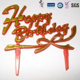 Gold Color Crown mit Toothpick Cake Toppers für Birthday Cake Decoration