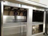 нержавеющая сталь три двери пицца счетчик Workbench таблица холодильник