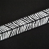Animal Print de Jacquard de felpa suave elástico plegable como cinta de enlace de pañal